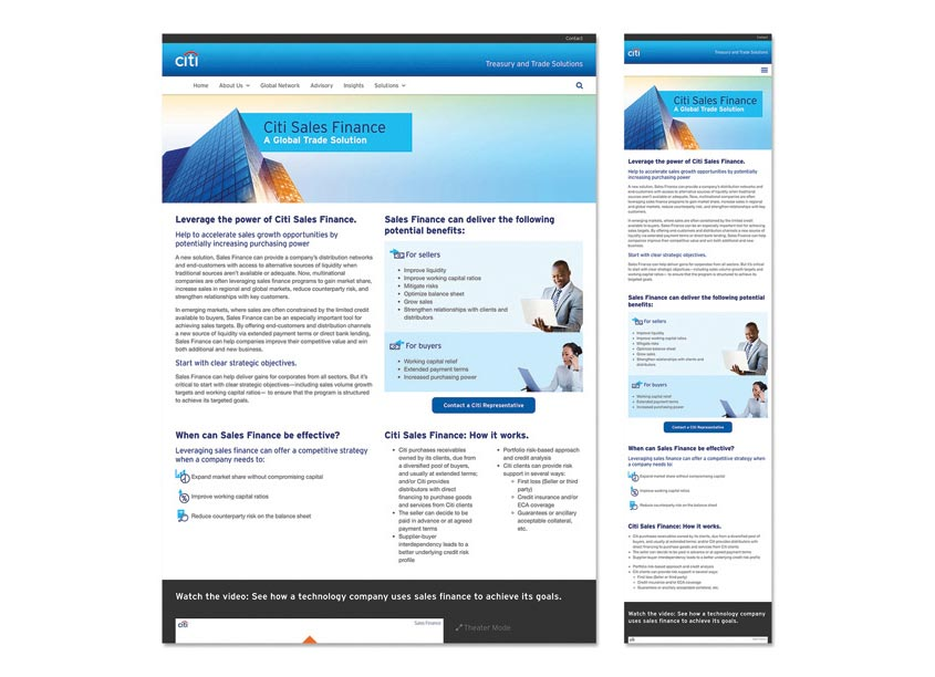 Citi Citi Sales Finance Website