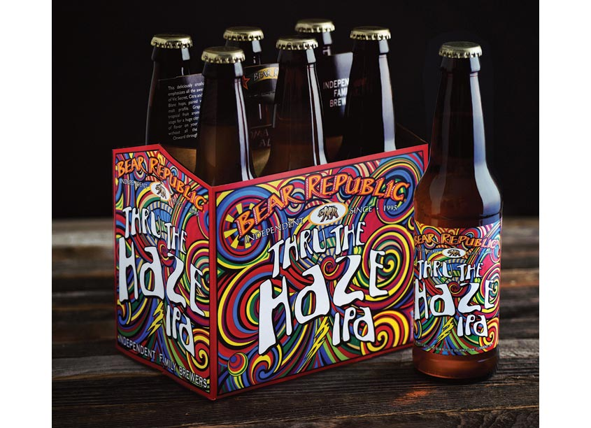 CraftBeerBranding.com Thru The Haze IPA