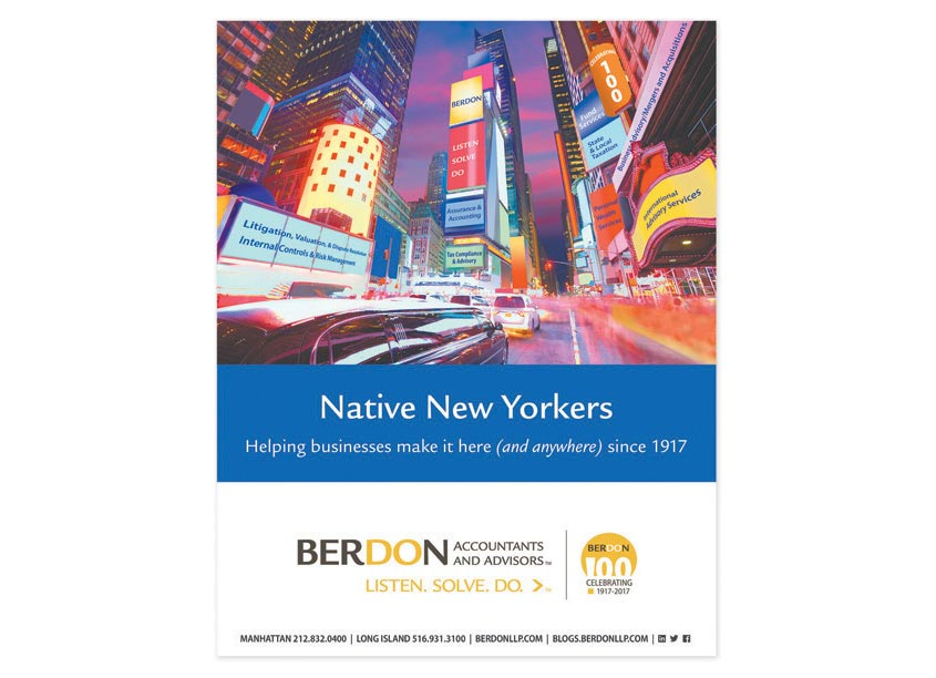 BERDON LLP Accountants and Advisors BERDON LLP - Native New Yorkers