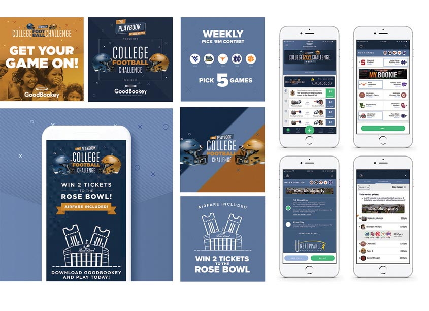 GoodBookey College Football Challenge Campaign by Carimus