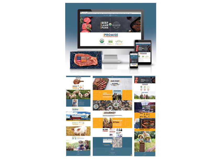The Biondo Group Reunion Foods Website Design