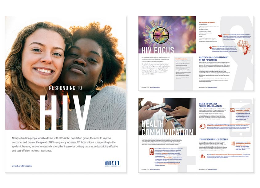 RTI International Responding to HIV Brochure