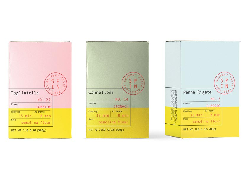 Shillington School of Graphic Design Gourmet Pasta Collections