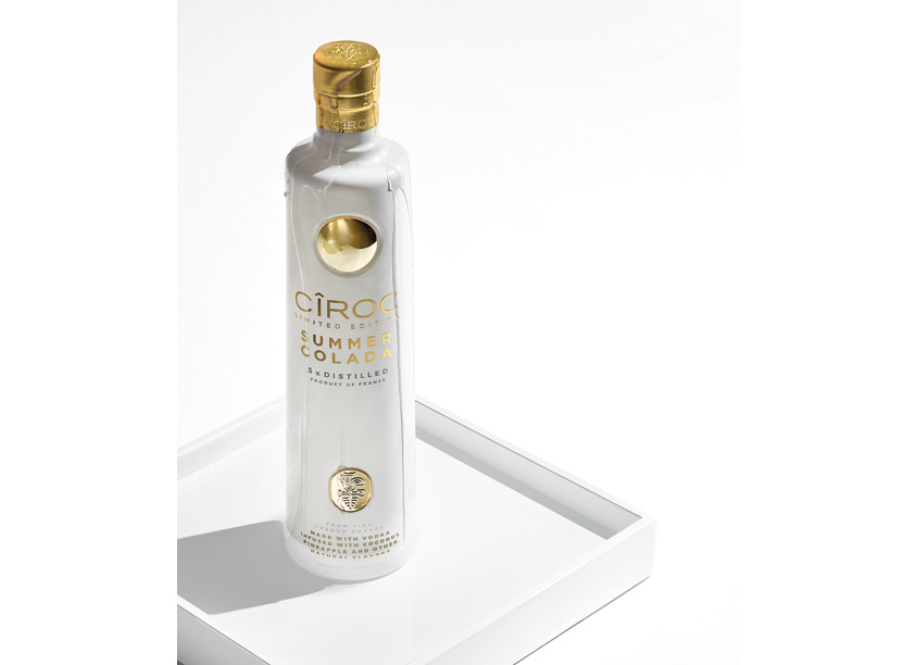 Packaging for Ciroc Summer Colada by forceMAJEURE Design