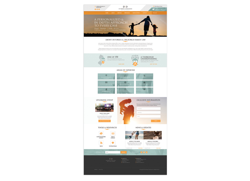 D&D Family Law Website by Paradigm Marketing and Design