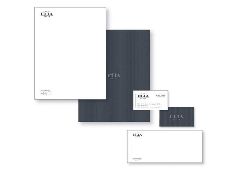 The Elia Group Stationery by Premier Communications Group
