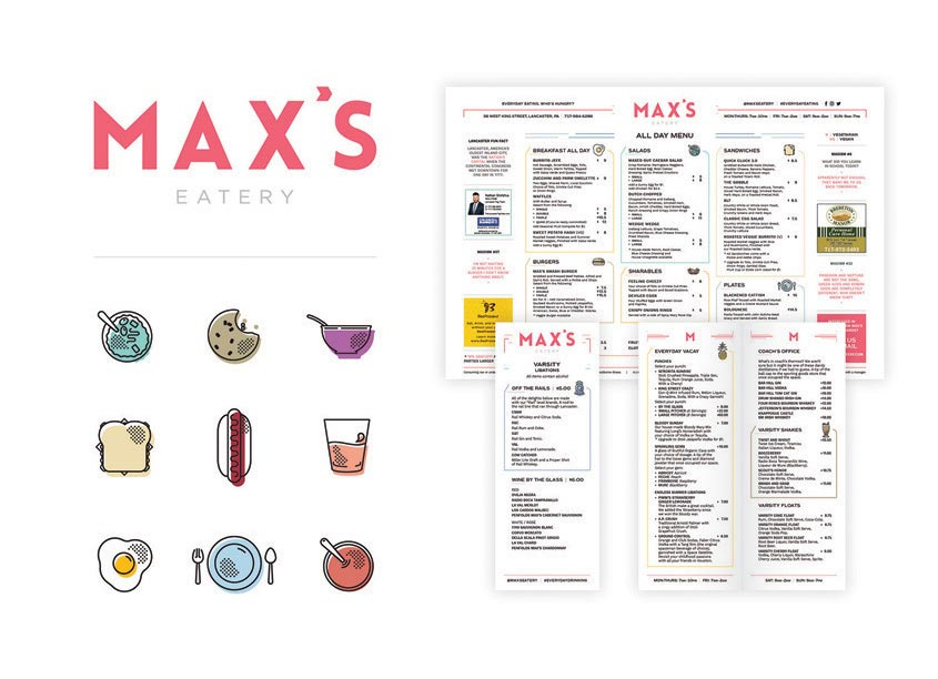 Max's Eatery Branding by GoodThree