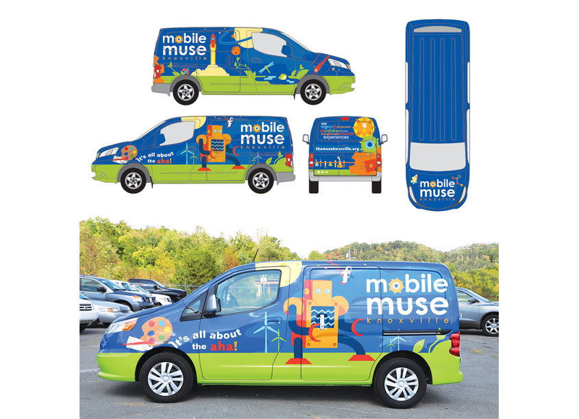 Knoxville Graphic House Mobile Muse Vehicle Wrap