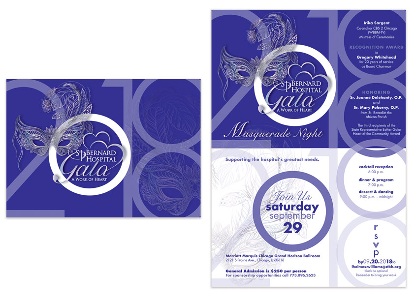 2018 Masquerade Gala Announcement and Invitation by Mazique Design Services