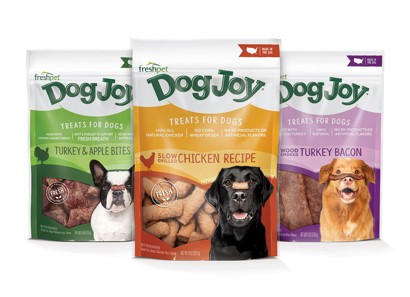 Dog Joy Packaging by Little Big Brands