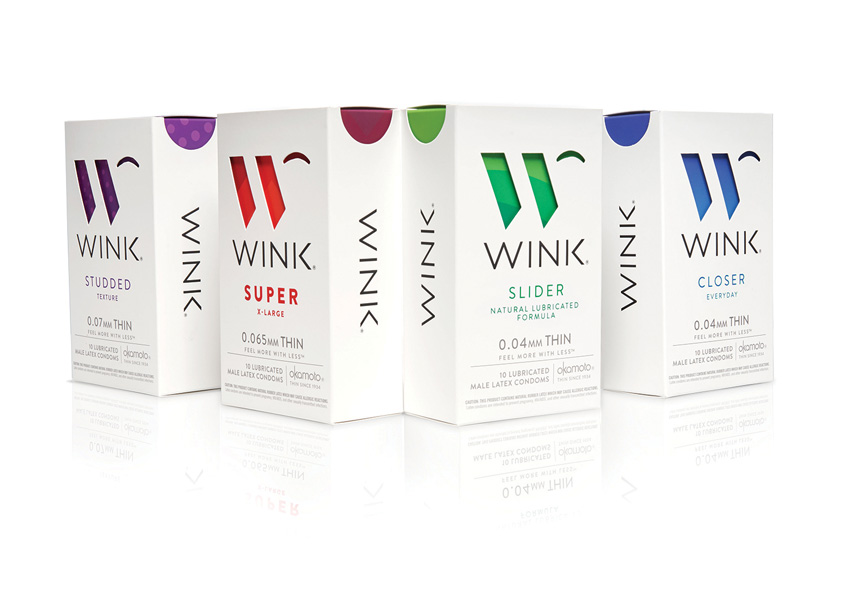 WINK Condoms Packaging by Little Big Brands