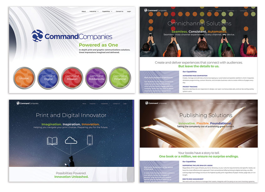 Command Companies Powered As One Website by Bonavita Design LLC