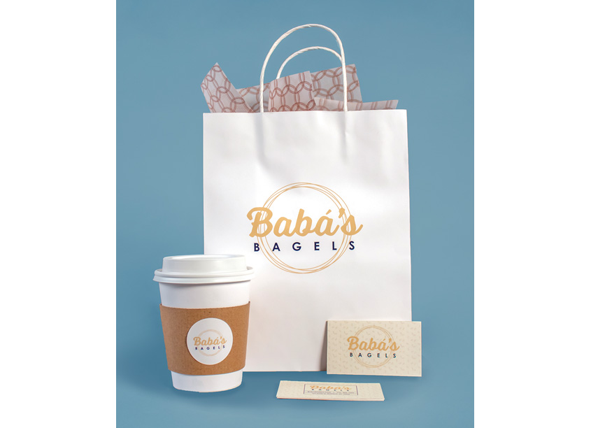 PrattMWP College of Art and Design Baba's Bagels Branding & Package Design