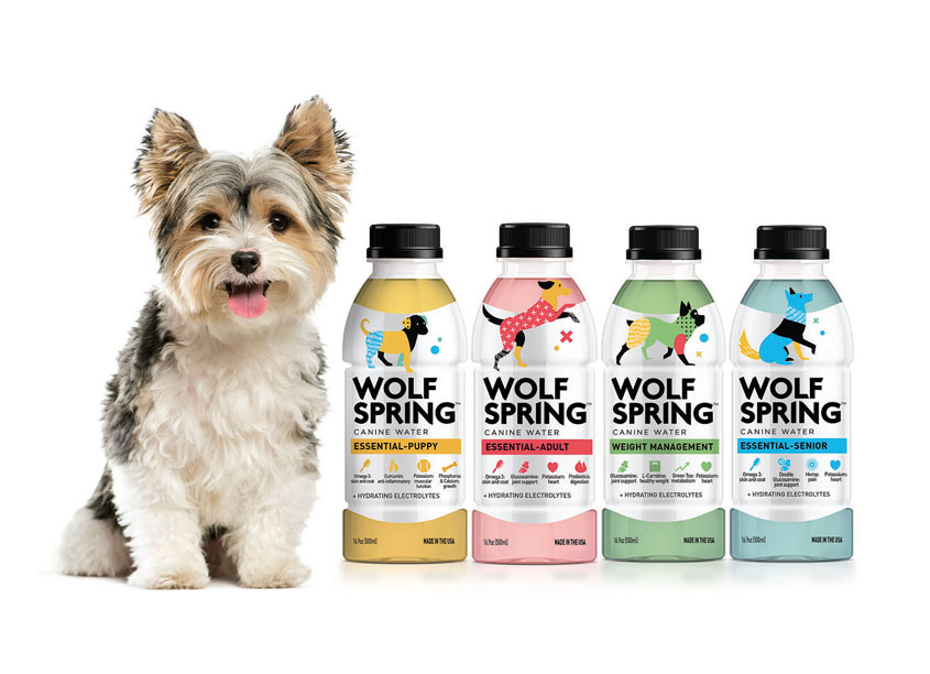 Wolf Spring Canine Water Packaging by Flood Creative