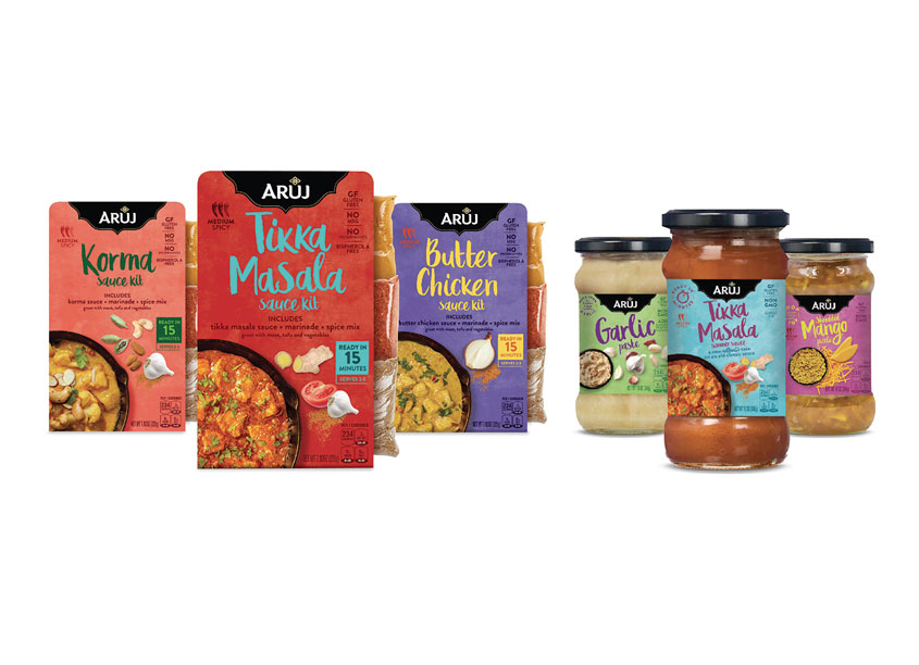 Aruj Curries Package Design by Smith Design