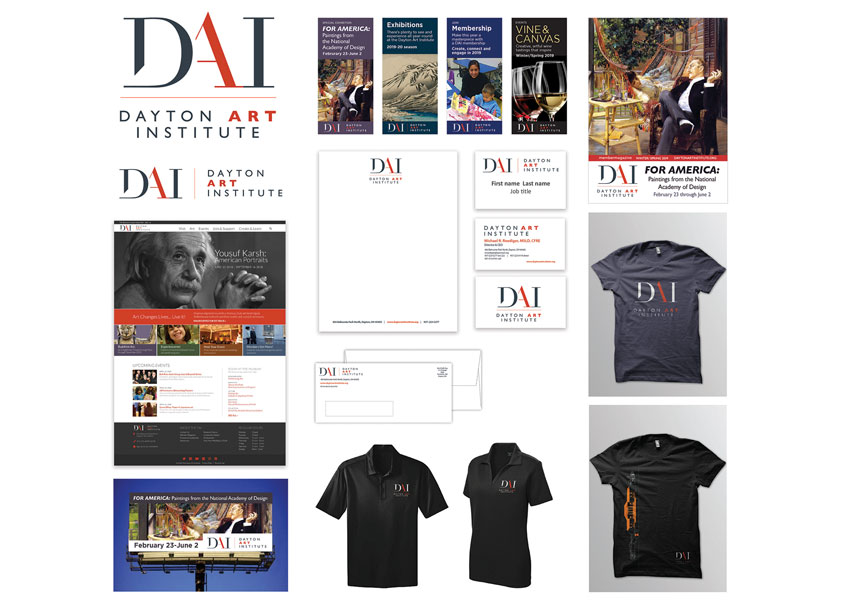 Museum Rebrand Campaign Including Logo and Identity by The Dayton Art Institute