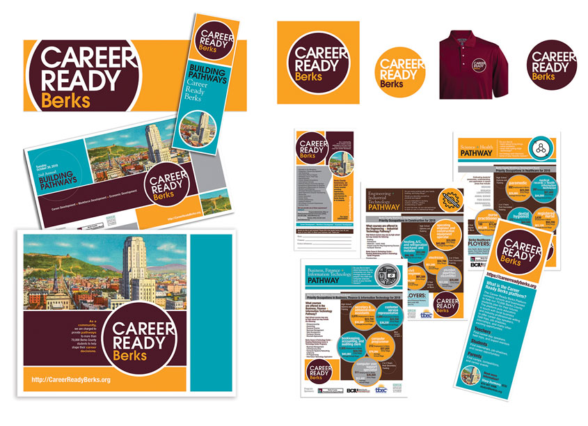 BCIU Creative Team Career Ready Berks Branding + Identity