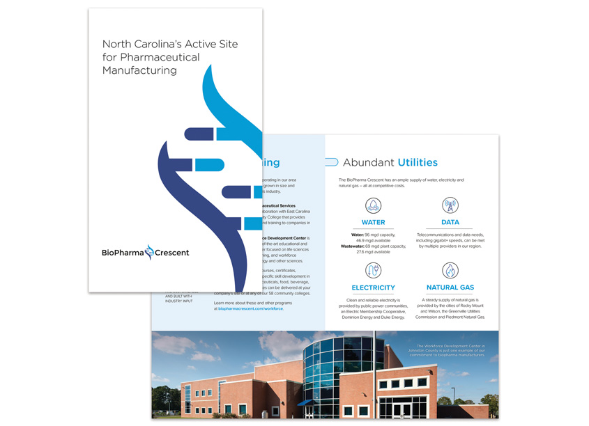 BioPharma Crescent Active Site Brochure by Liaison Design Group