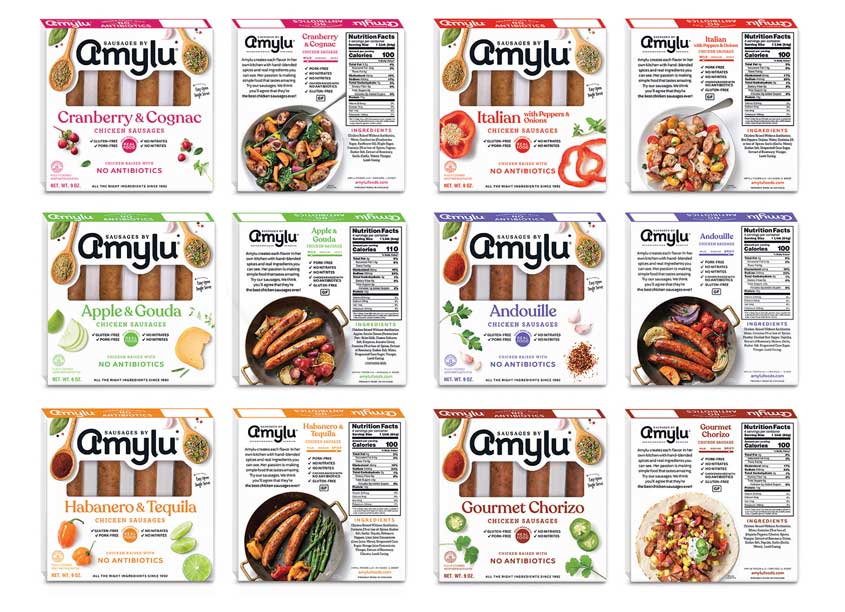 Sausages by Amylu Retail Packaging by Stacy Karzen LLC