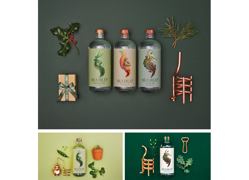 Seedlip Product Range Package Design by Pearlfisher
