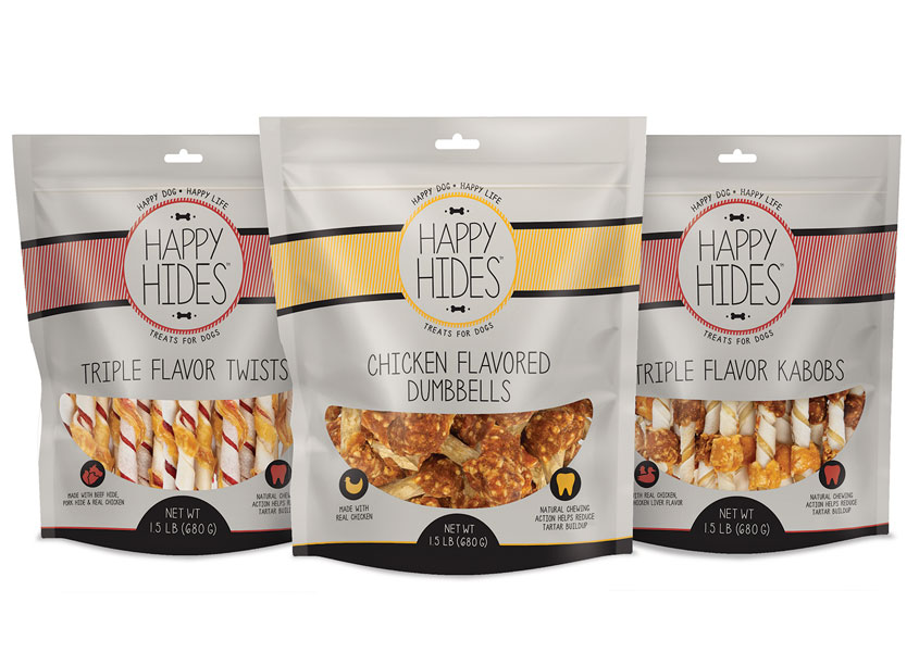 Happy Hides™ Treats for Dogs by Spectrum Brands - Global Pet Care and Home & Garden