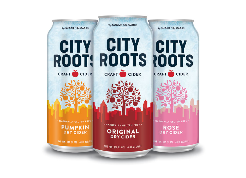 City Roots Craft Cider Packaging by Triangl Design