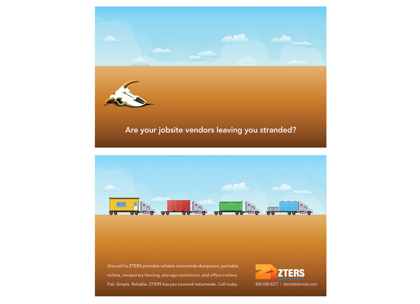 ZTERS Desert Advertisements by Phil Chrzanowski Design