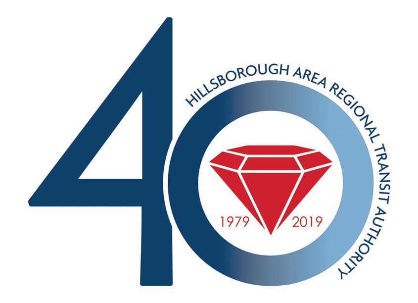 Hillsborough Area Regional Transit Authority HART 40th Anniversary Logo