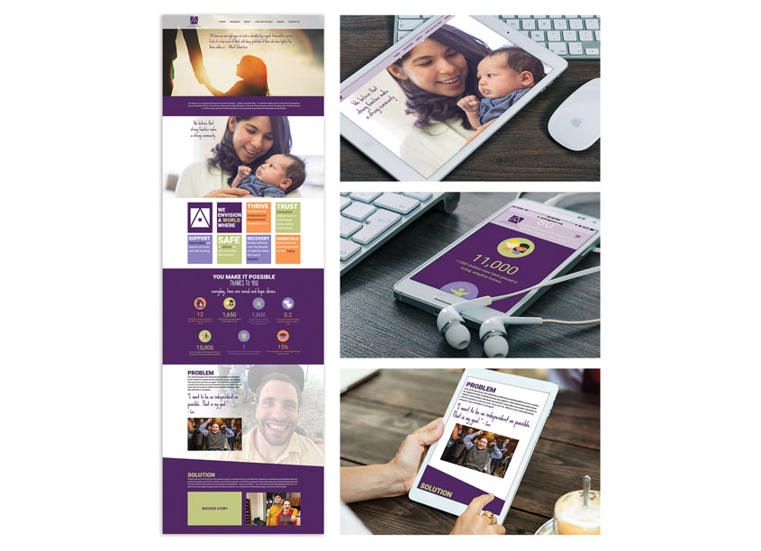 We Envision A World Website Design by Rapunzel Creative