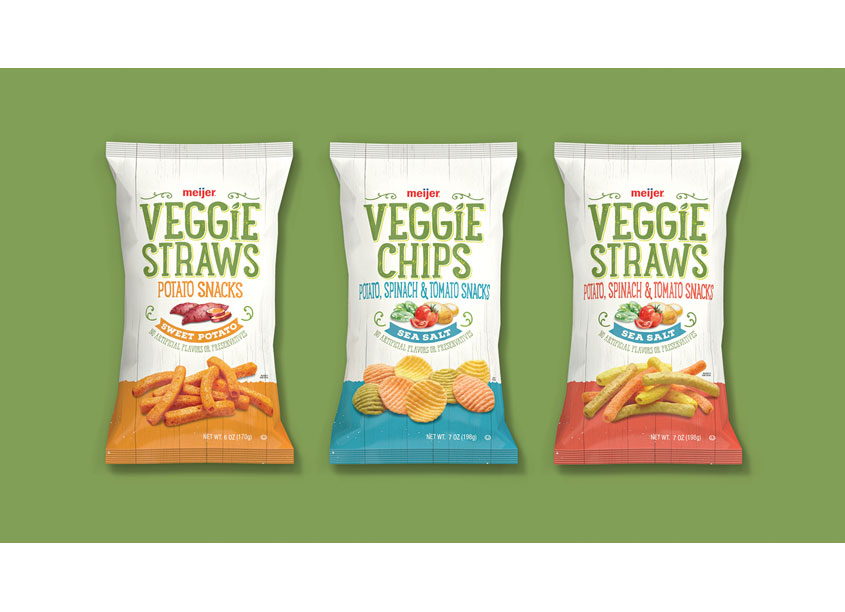 Veggie Straws Package Design by COHO Creative
