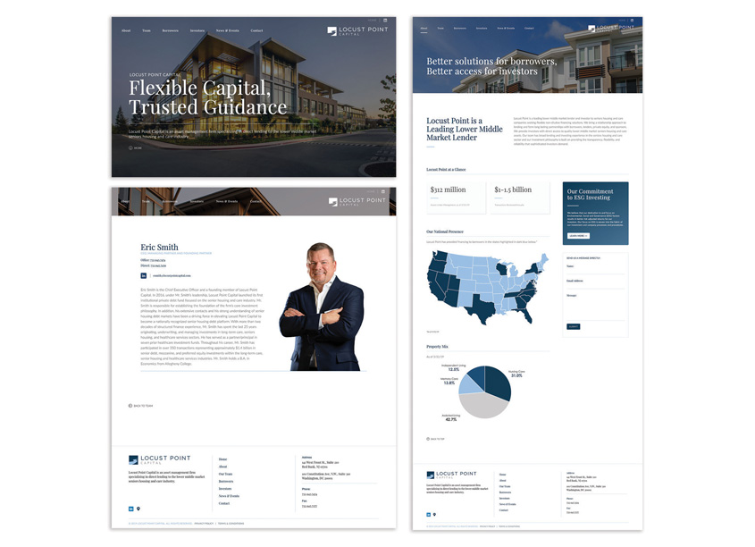 Locust Point Capital Website Design by Emerson Ward Creative