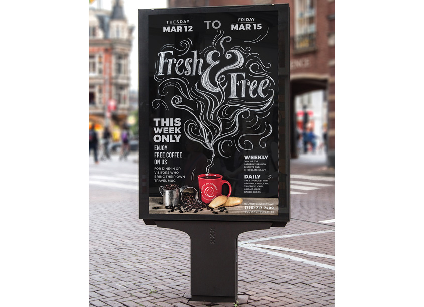 Fresh Free Coffee Poster by Studio 165+ / Ball State University School of Art