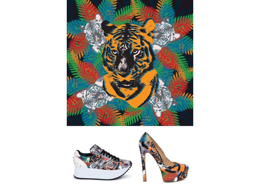 Rajah Print for Pumps and Sneakers by 80east Design