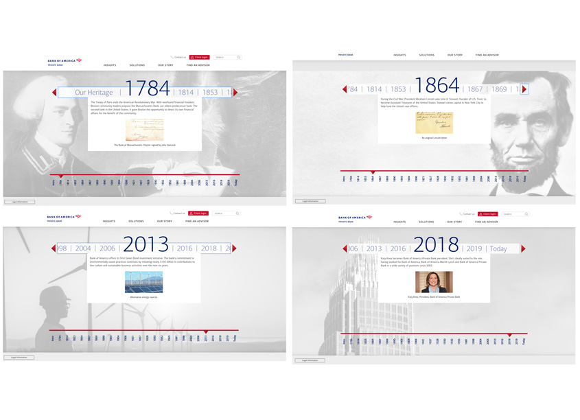 Heritage Timeline by Bank of America, Enterprise Creative Solutions