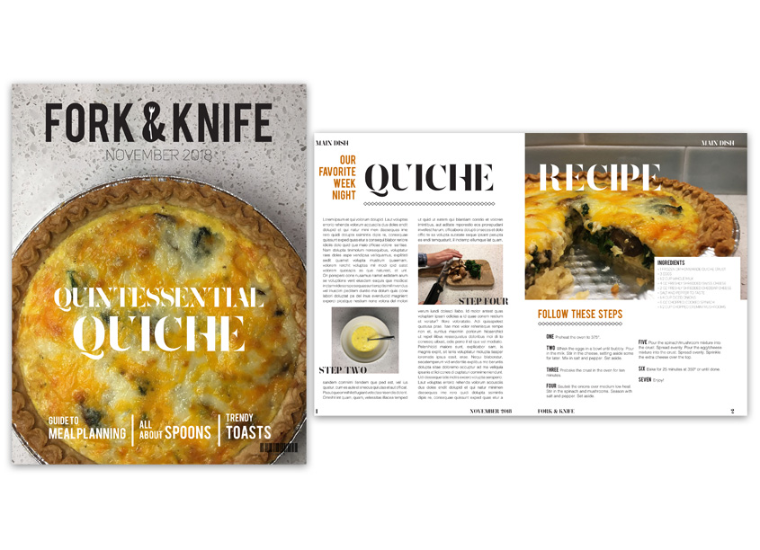 Fork & Knife Magazine Design by The Park School of Baltimore