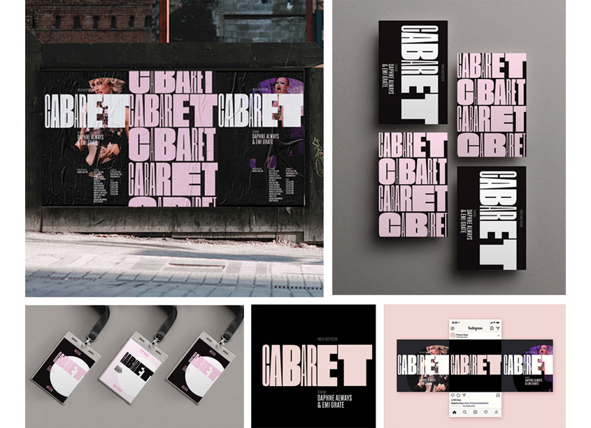 Cabaret Branding Campaign by Anthony Wood Design