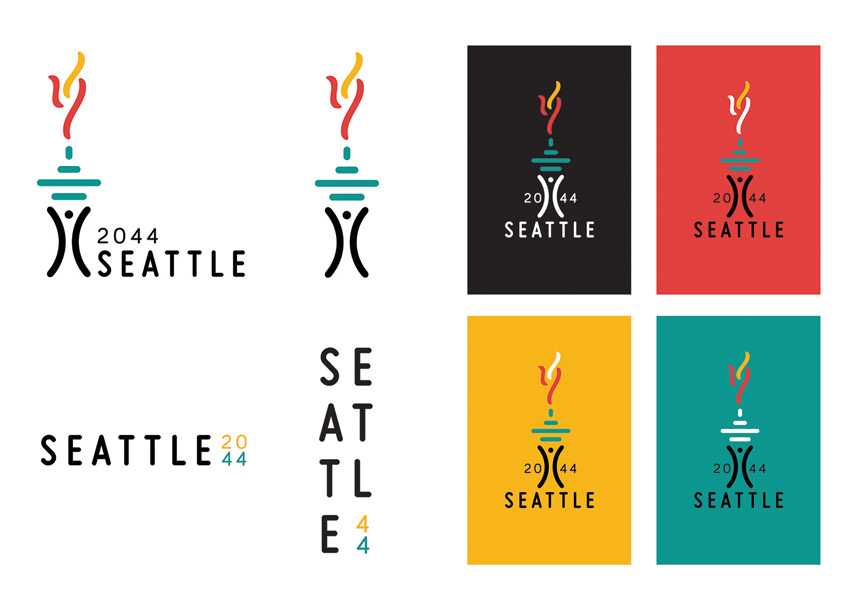 Edinboro University Seattle Olympics 2044 Logo and Identity