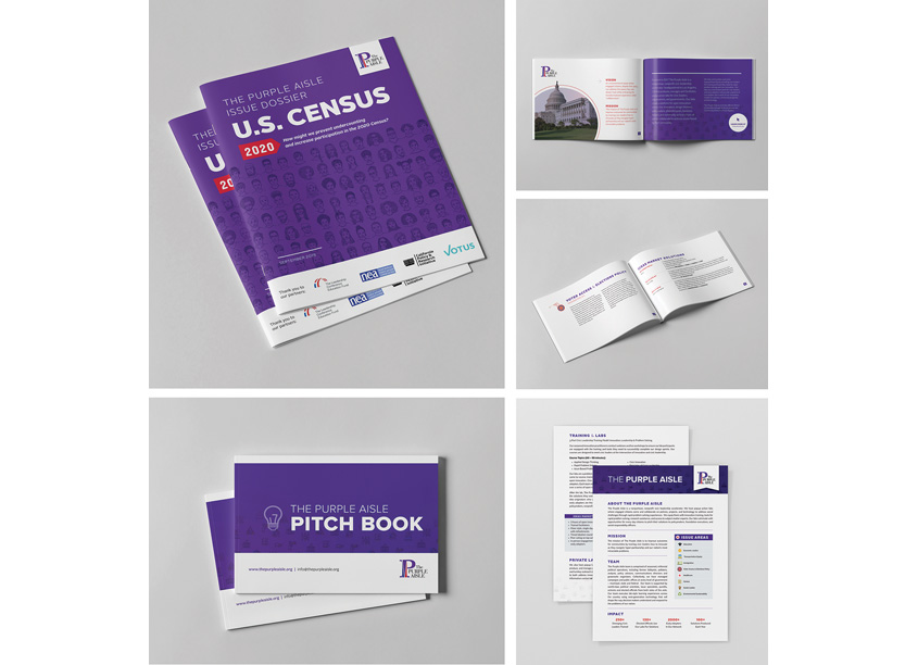 The Purple Aisle Collateral by West 7th Design Studio