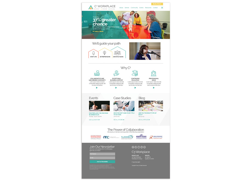 Paradigm Marketing and Design C3 Workplace Website