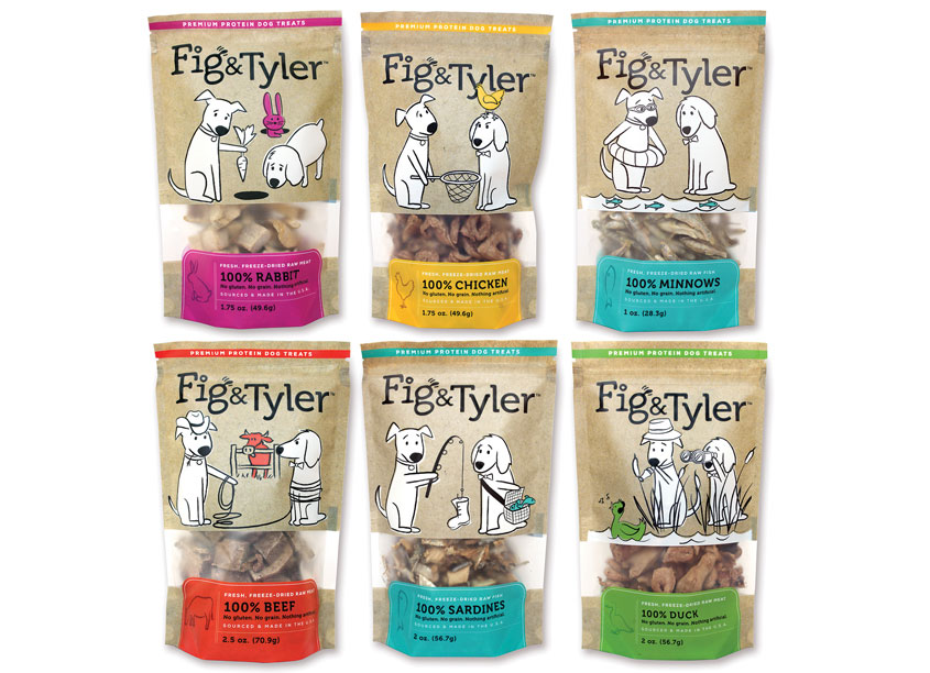 Fig & Tyler, Freeze-Dried Dog Treats by Alessandro/Weber Design