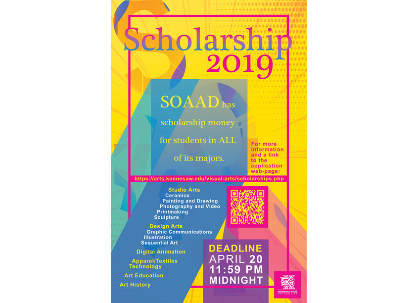 Scholarship Poster by Kennesaw State University/School of Art and Design