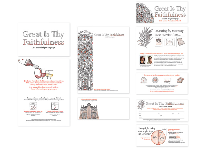 Pledge Campaign Brochure & Collateral by Fifth Avenue Presbyterian Church