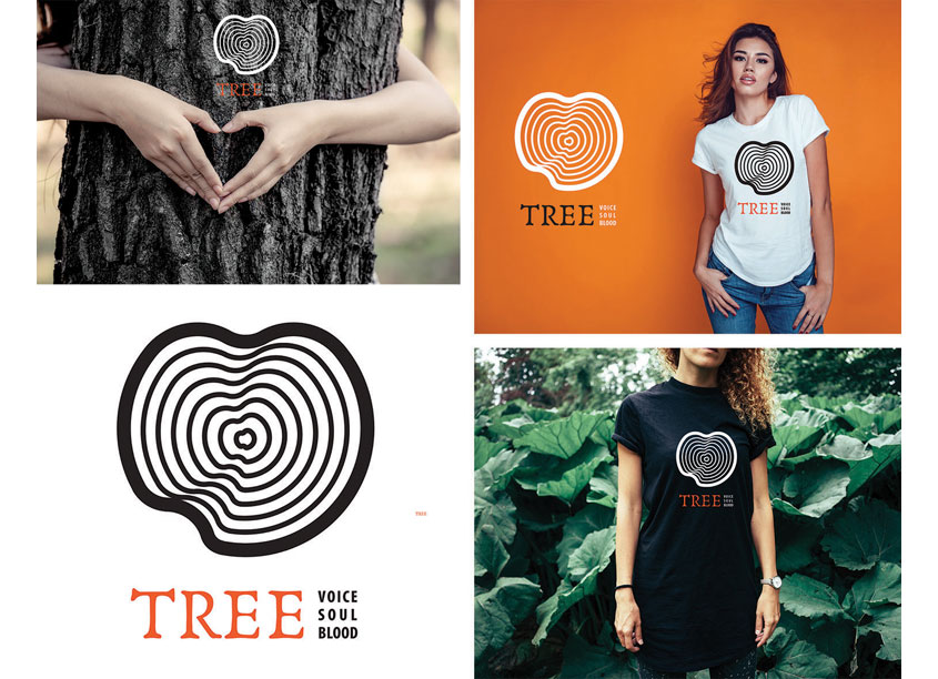 Heart Tree Rings Logo Design by Tri Dong Design