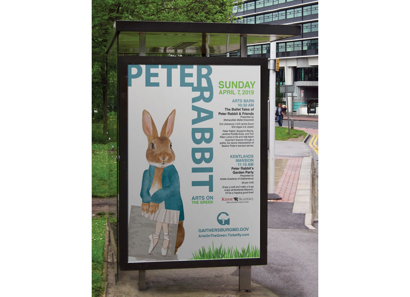 City of Gaithersburg Peter Rabbit Advertising