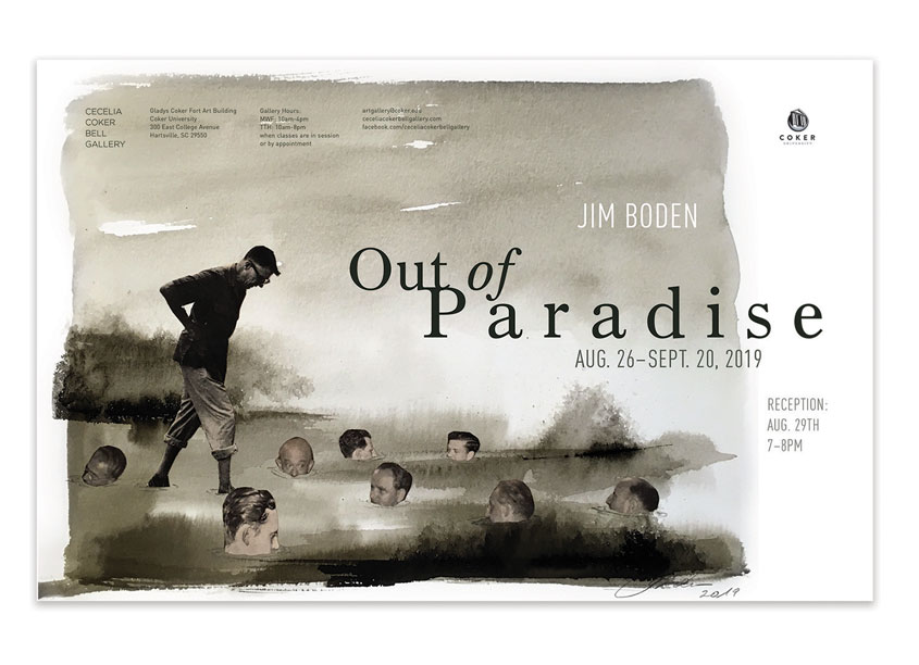 Out of Paradise Exhibition Poster by Coker University