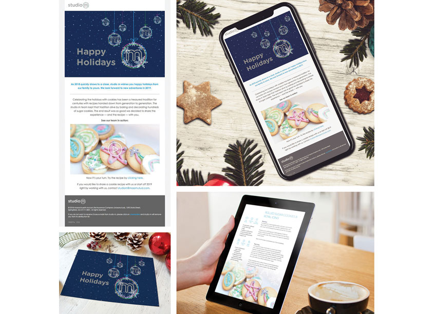 studio m Holiday Cookie Email and Video by studio m, MassMutual