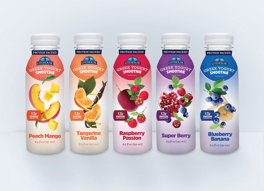 Litehouse Smoothies Packaging by Litehouse Design Team