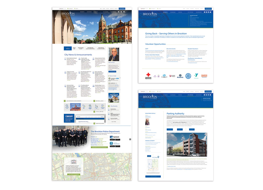 City of Brockton Website Design and Code by Design Principles, Inc.