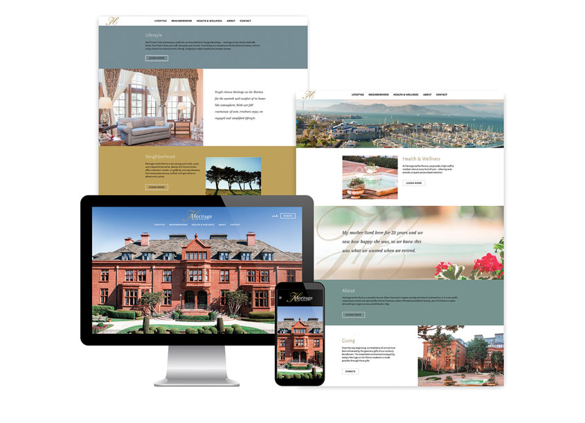 Heritage on the Marina Website by Gauger + Associates