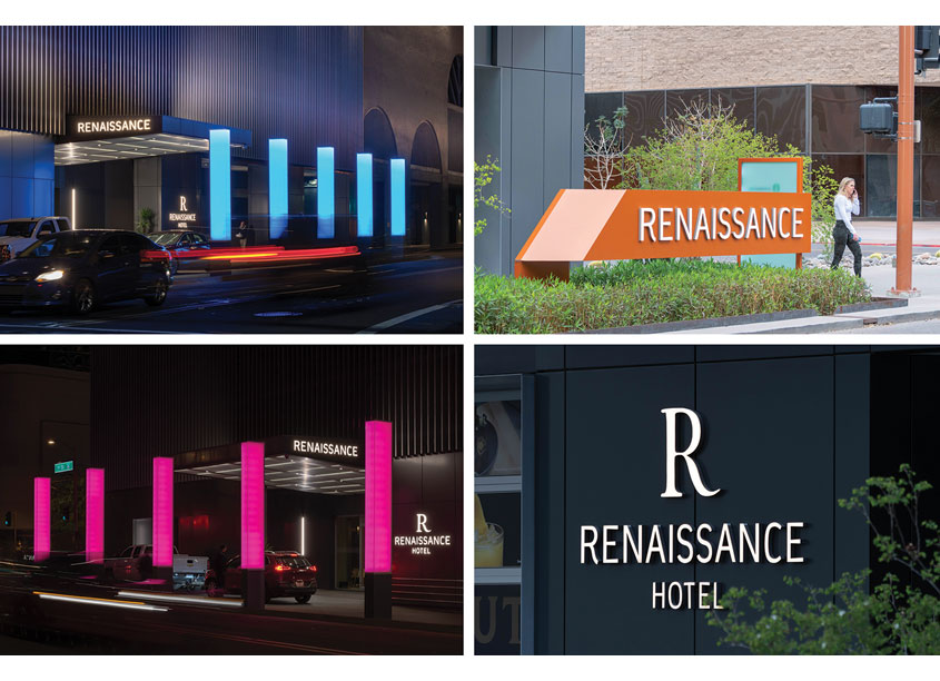 Altitude Design Office Renaissance Phoenix Hotel Environmental Graphics